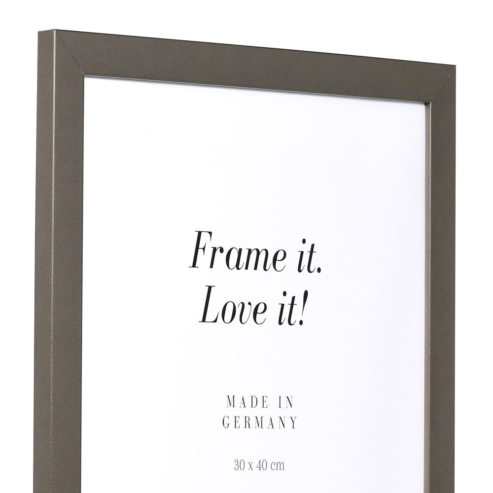 Cornice in legno Top Pro 10x15 cm | platina | vetro standarde