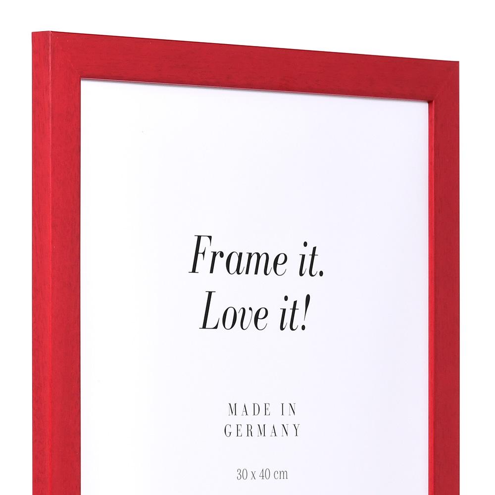Cornice in legno Top Pro 10x15 cm | rosso | vetro standarde