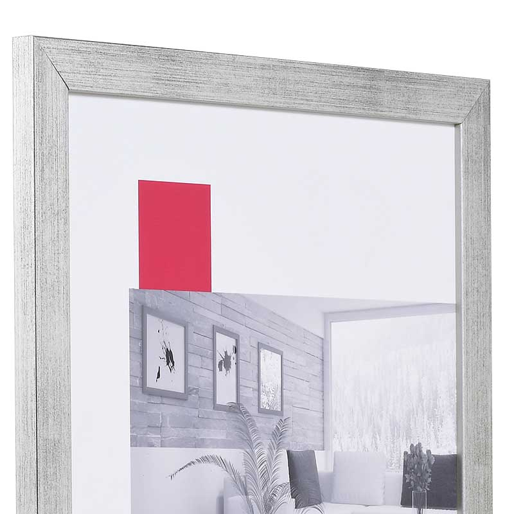 Cornice in legno Top Pro 90x120 cm | argento | vetro artificiale antiriflesso