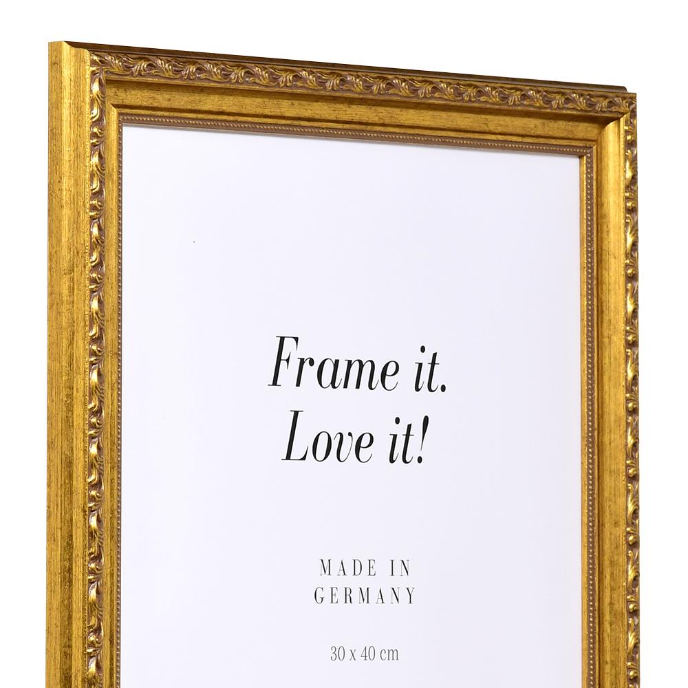 Cornice barocca Madrie 7x10 cm | oro antico | vetro standarde