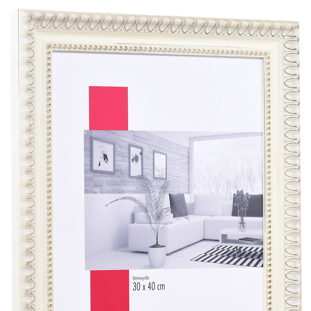 Cornice barocca Dombes 7x10 cm | bianco | vetro standarde