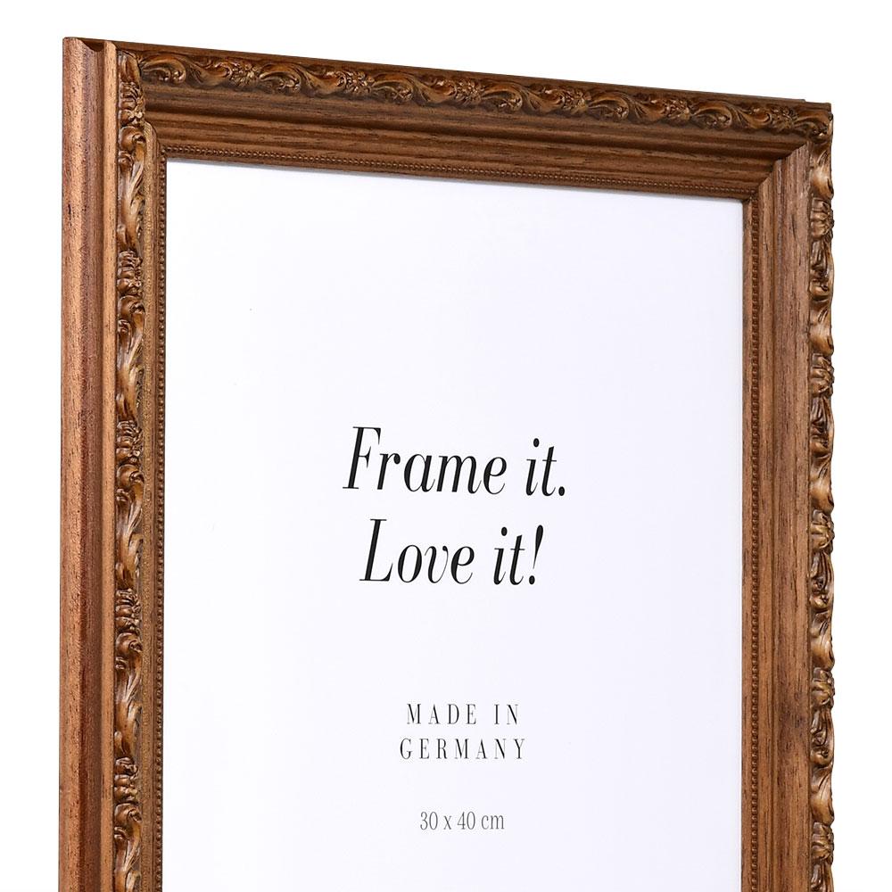 Cornice barocca Velay 7x10 cm | marrone | vetro standarde