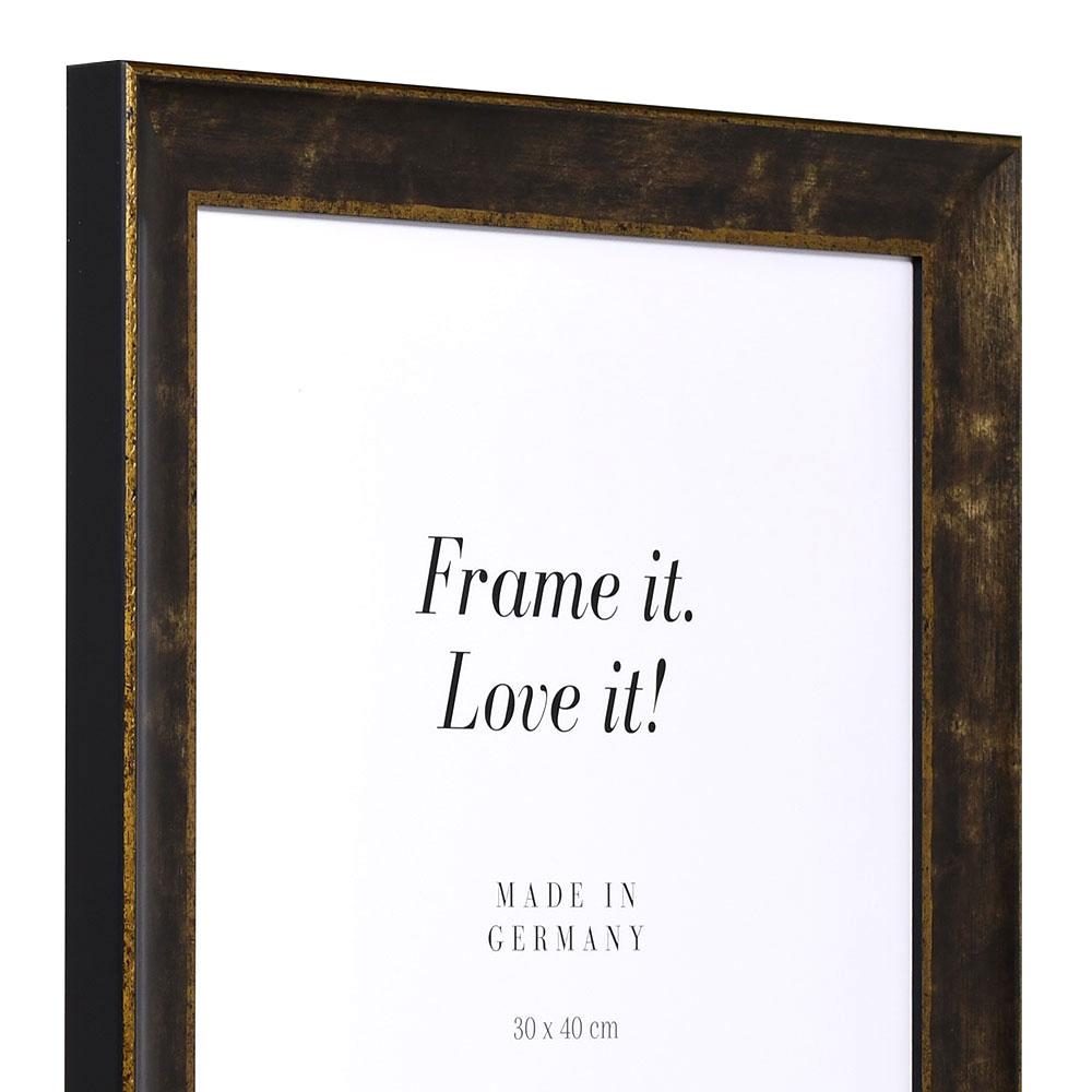 Cornice barocca Poher 7x10 cm | nero | vetro standarde