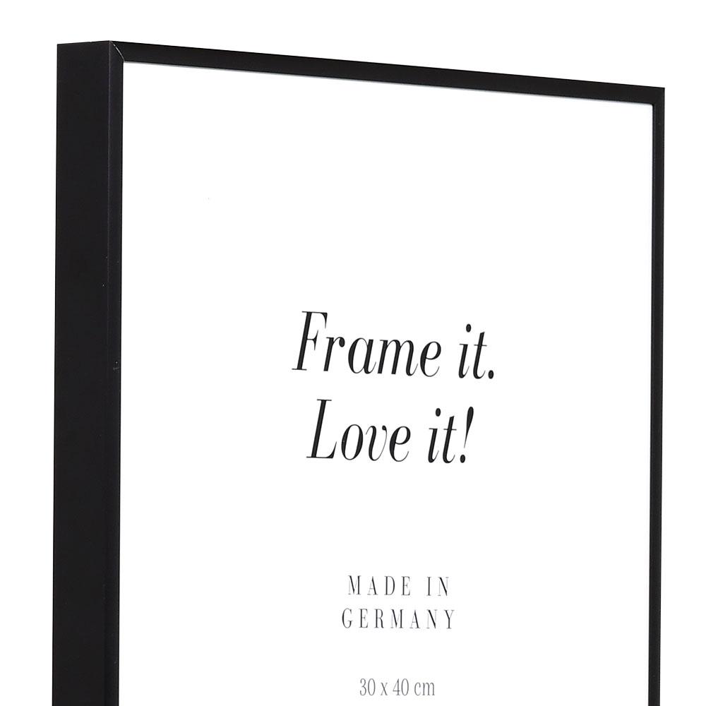Cornice in alluminio Quadro 20x30 cm | nero opaco | vetro standarde
