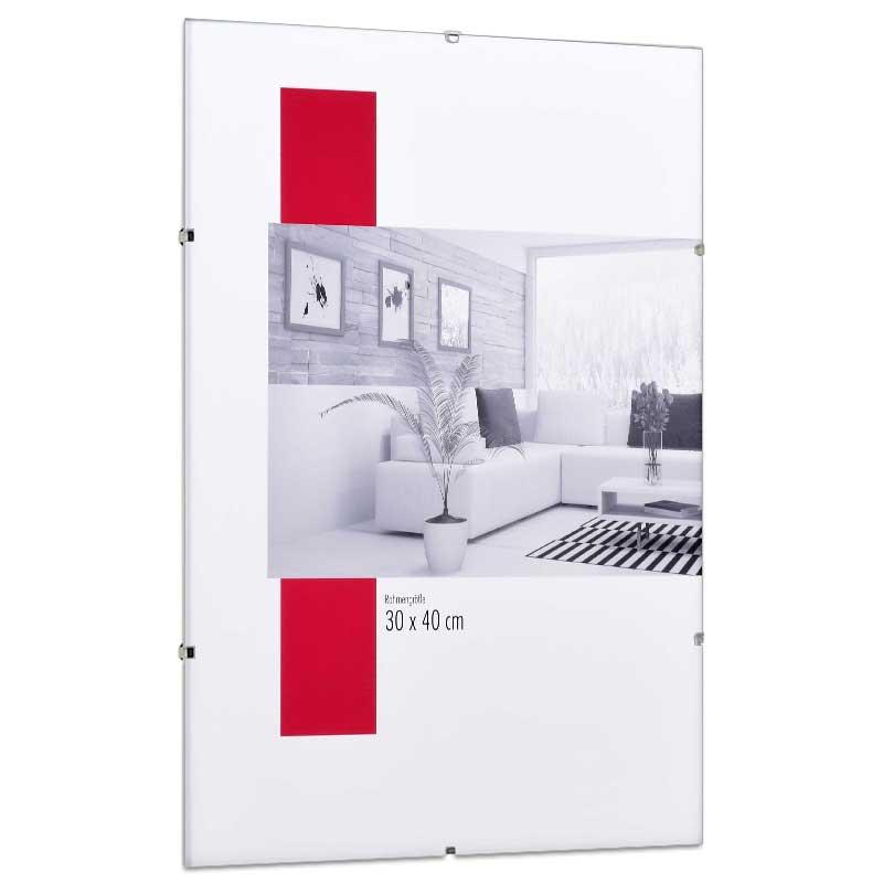 mira cornice con clips 50x60 cm vetro normale. Black Bedroom Furniture Sets. Home Design Ideas