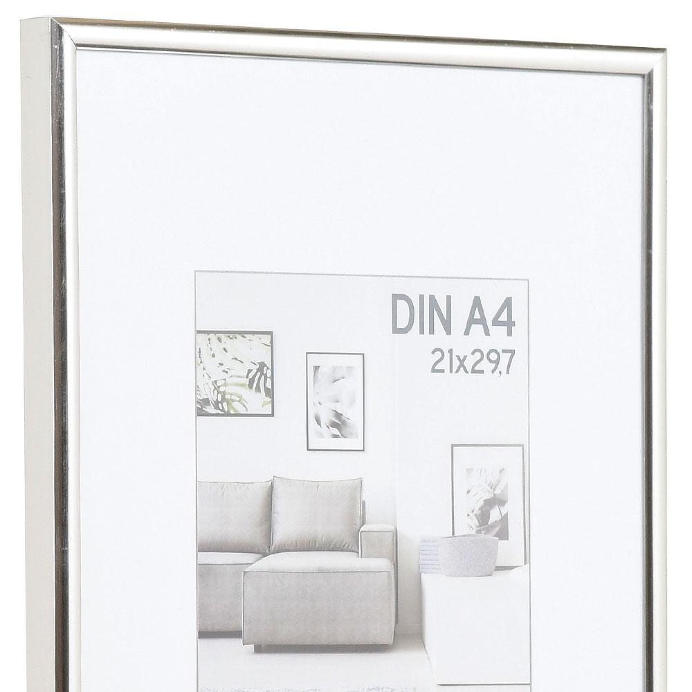 Cornice in plastica Elements 21x29,7 cm (A4) | argento | vetro standard