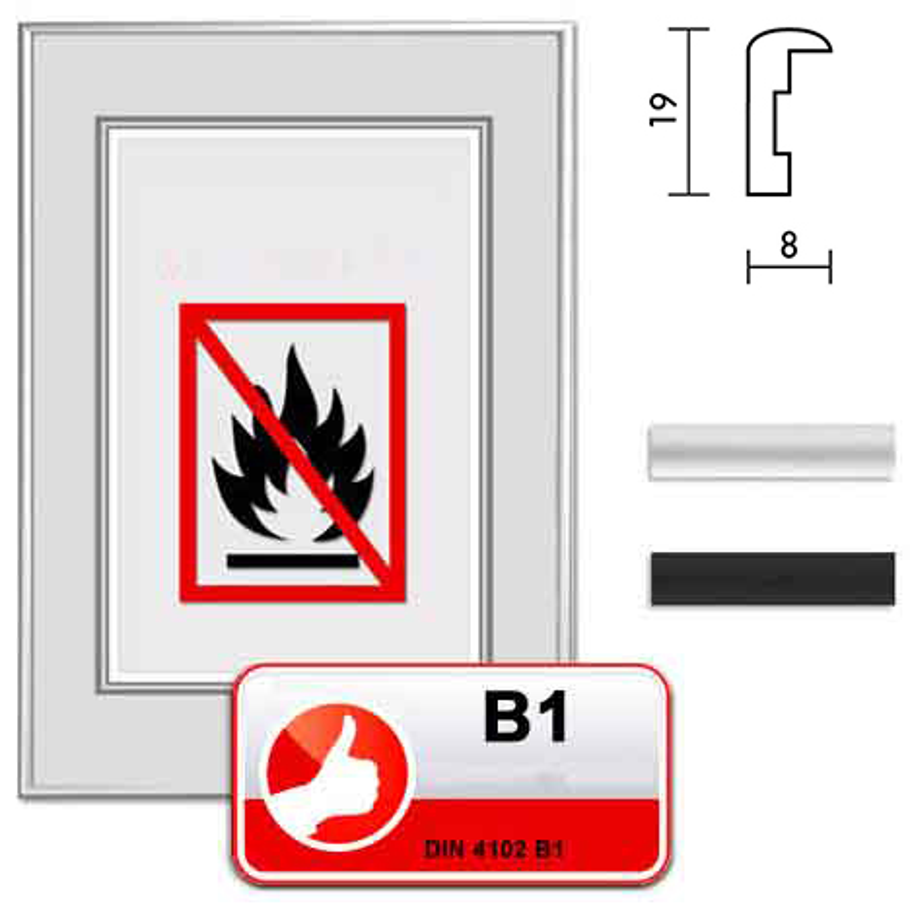 """Classe standard B1 protezione fuoco """"Econ rotondo"""""""