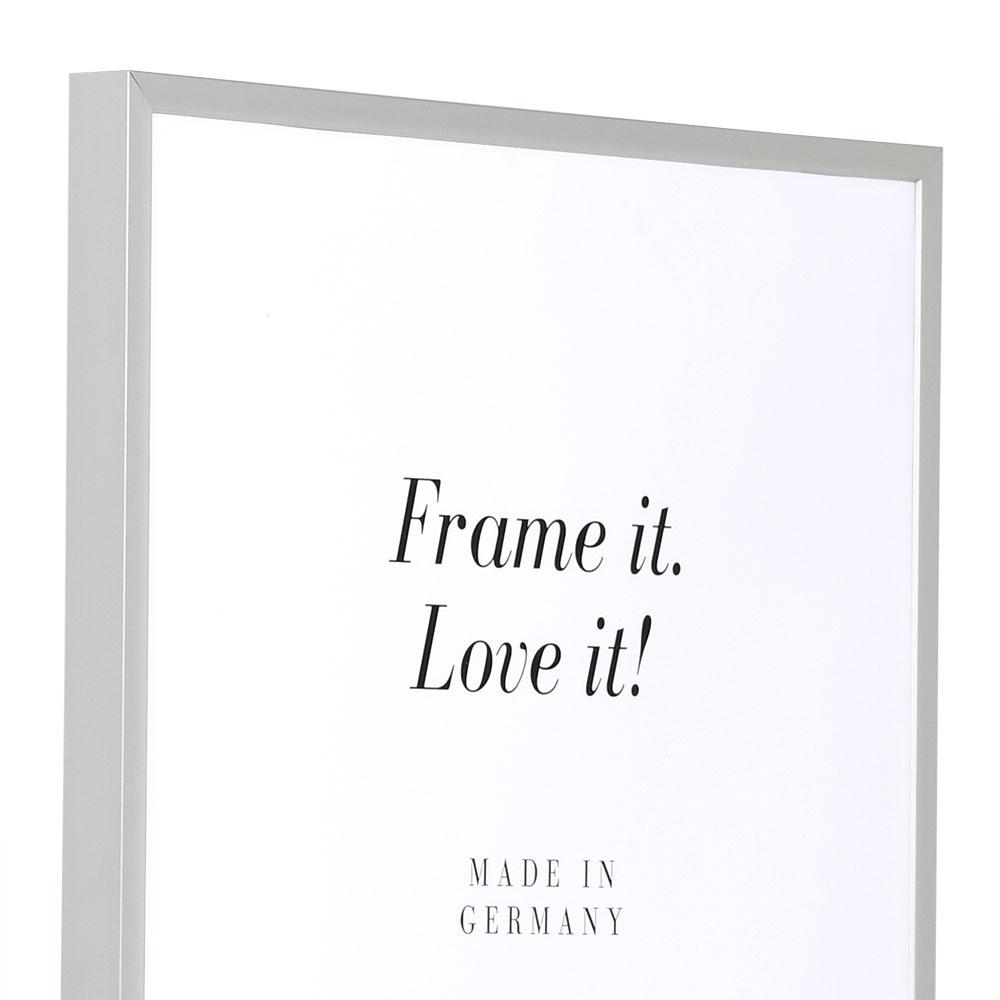 Cornice in alluminio Econ angolare 60x80 cm | argento opaco | vetro standarde