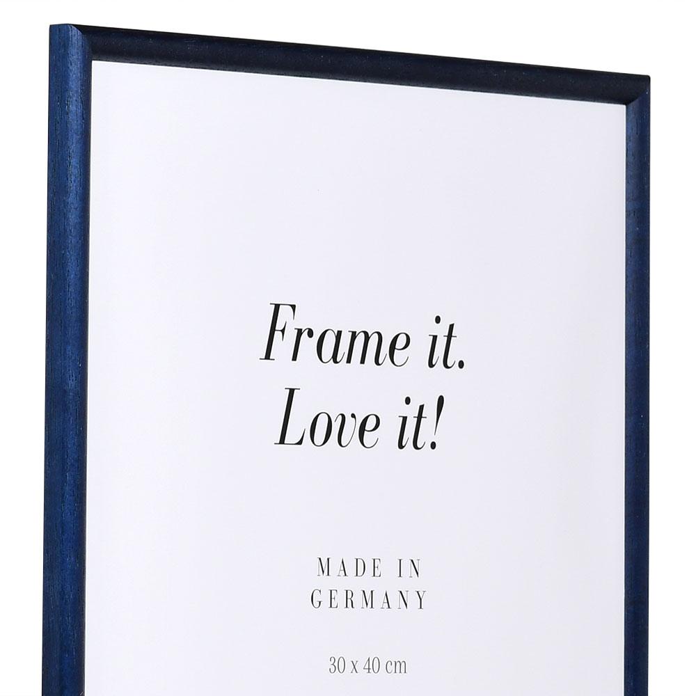 Cornice in legno Avignon 21x29,7 cm (A4) | Blu | Vetro standard