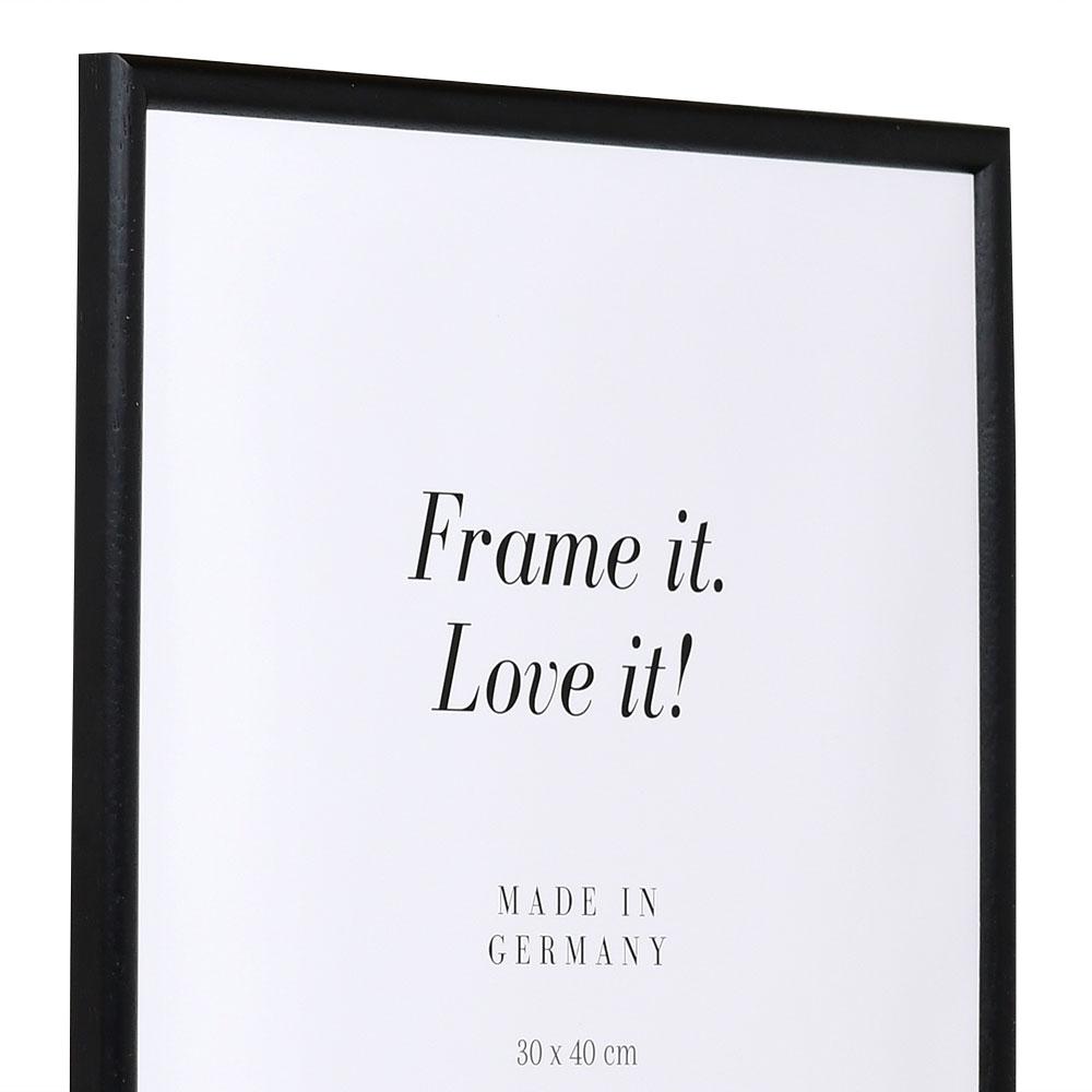 Cornice in legno Avignon 20x20 cm | nero | vetro standarde