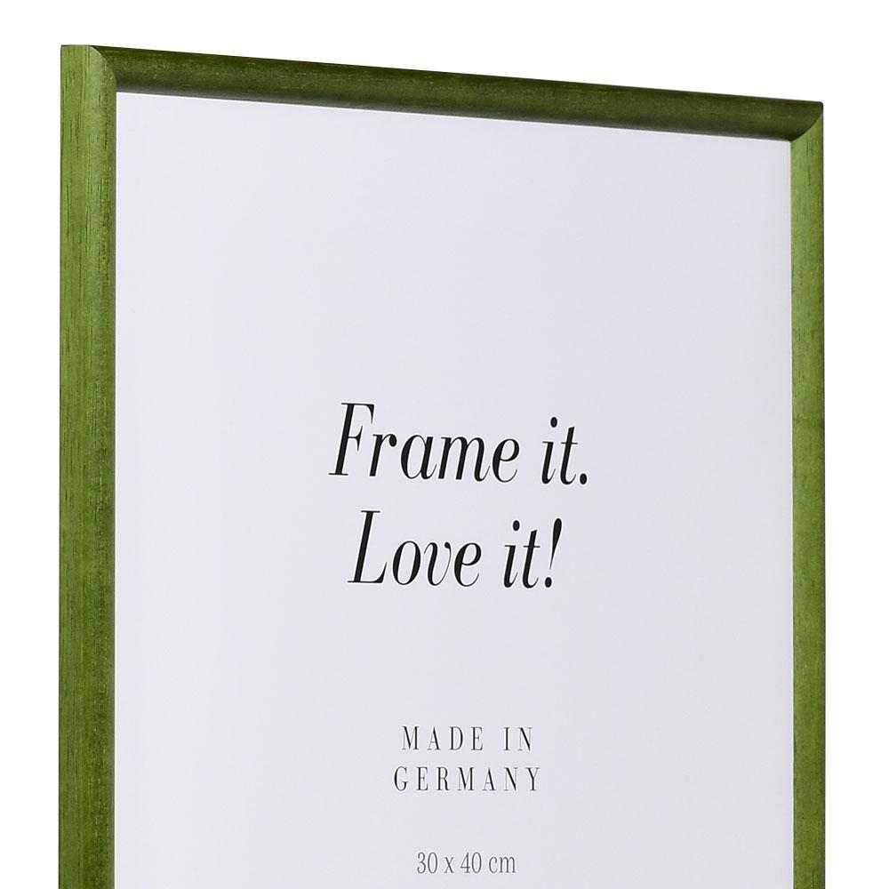Cornice in legno Avignon 21x29,7 cm (A4) | verde abete | vetro standarde