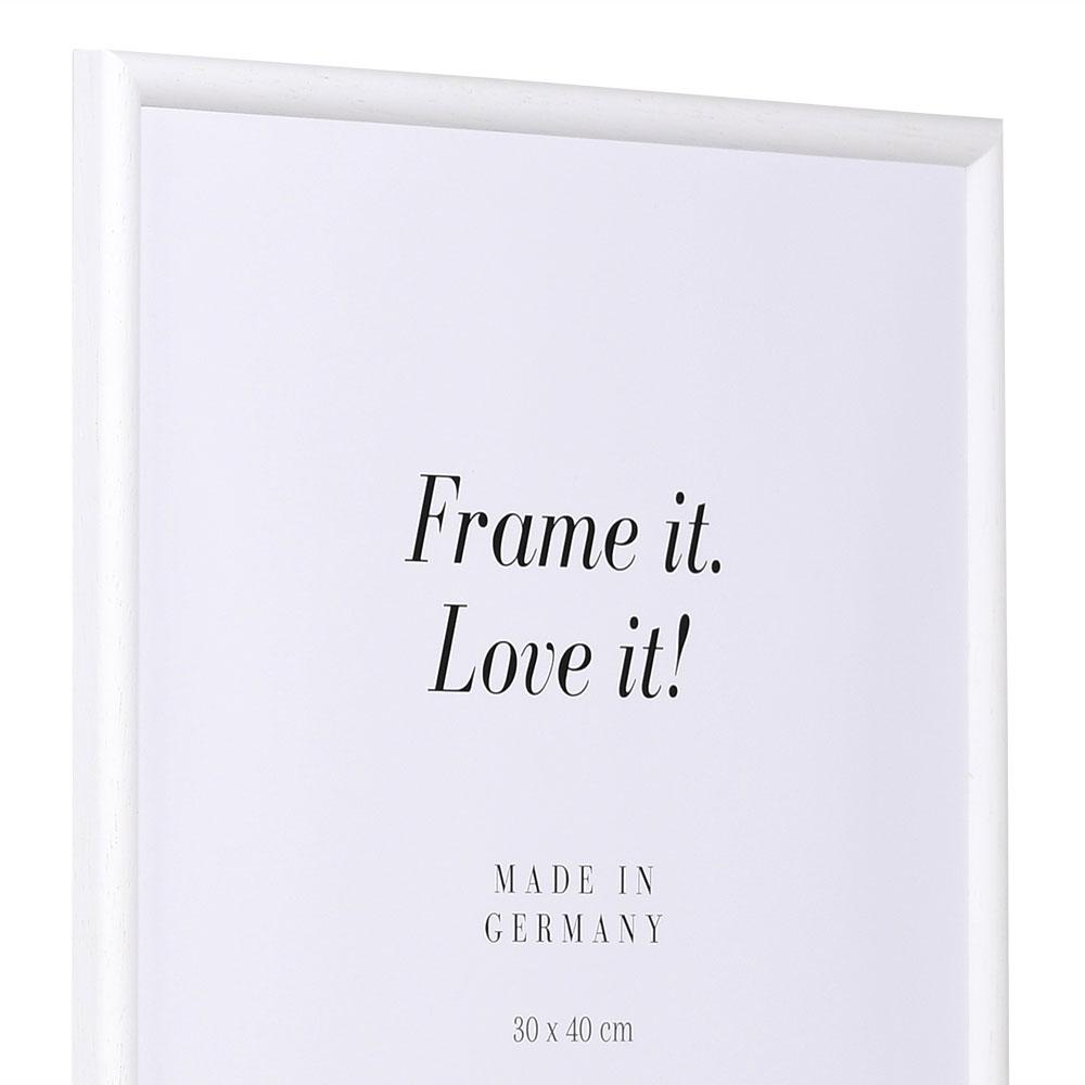 Cornice in legno Avignon 30x40 cm | bianco | vetro normale