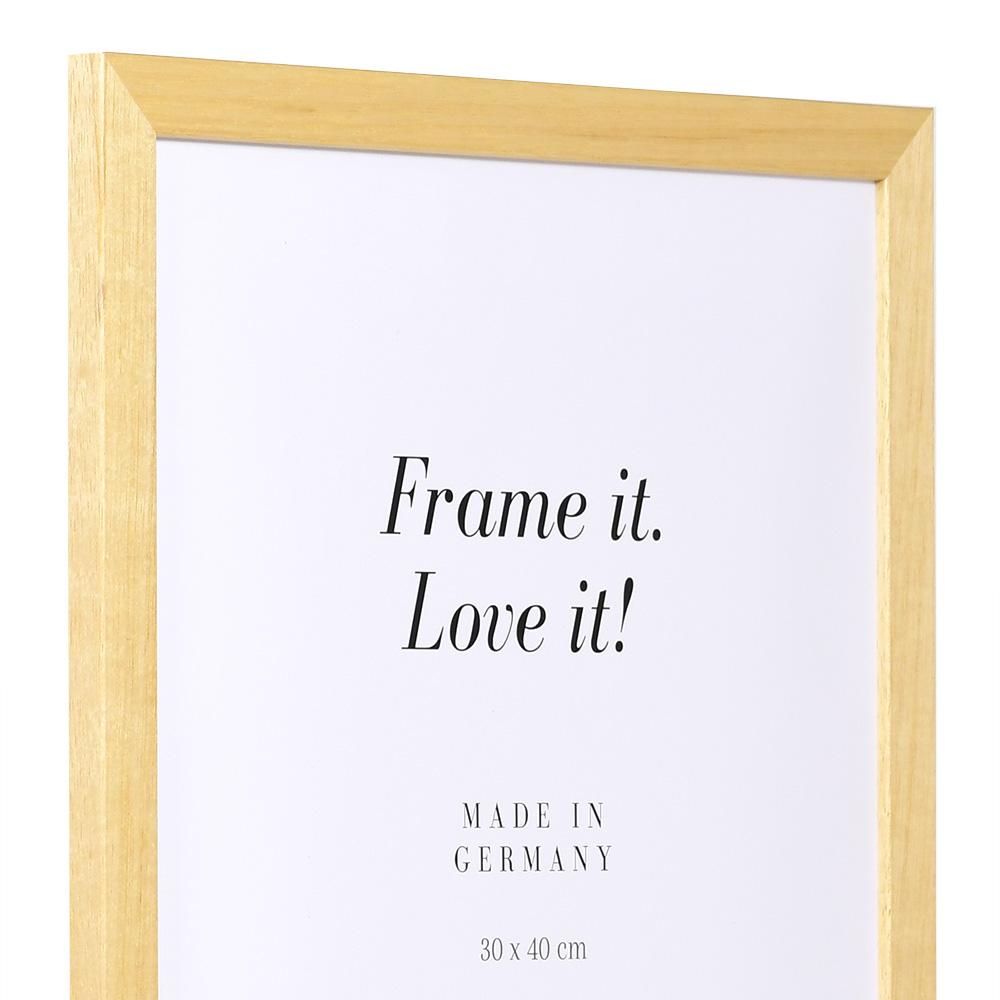 Cornice economica in legno 35x50 cm | naturale | vetro standarde