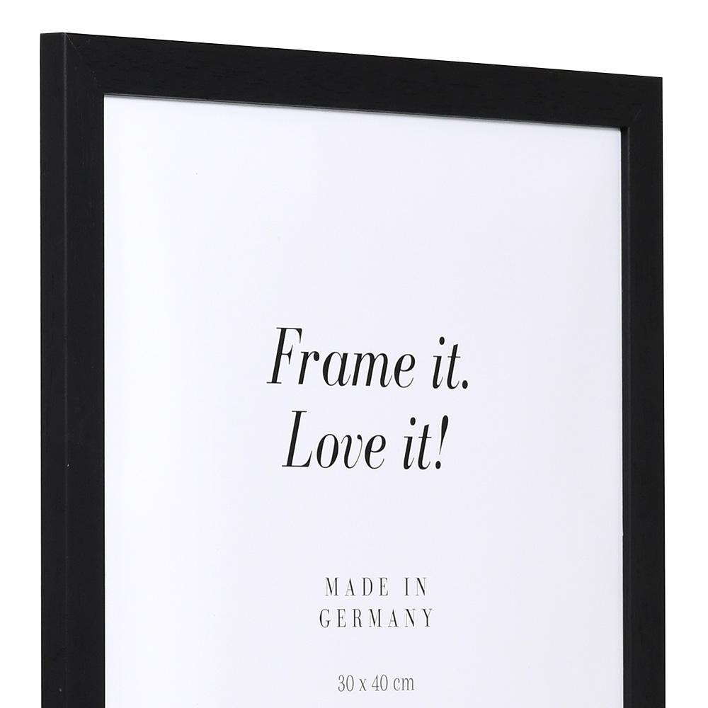 Cornice economica in legno 35x50 cm | nero | vetro standarde