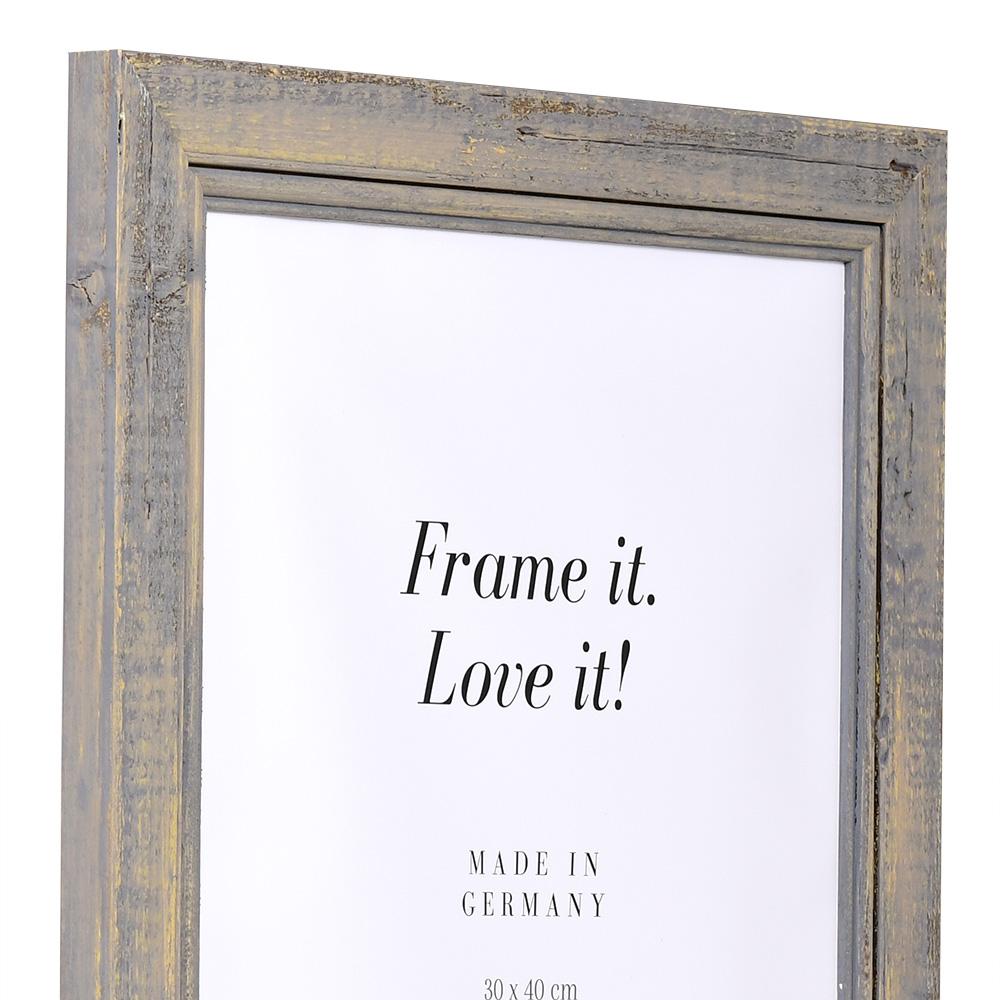 Cornice in legno Lafat 21x29,7 cm (A4) | Grigio | Vetro standard