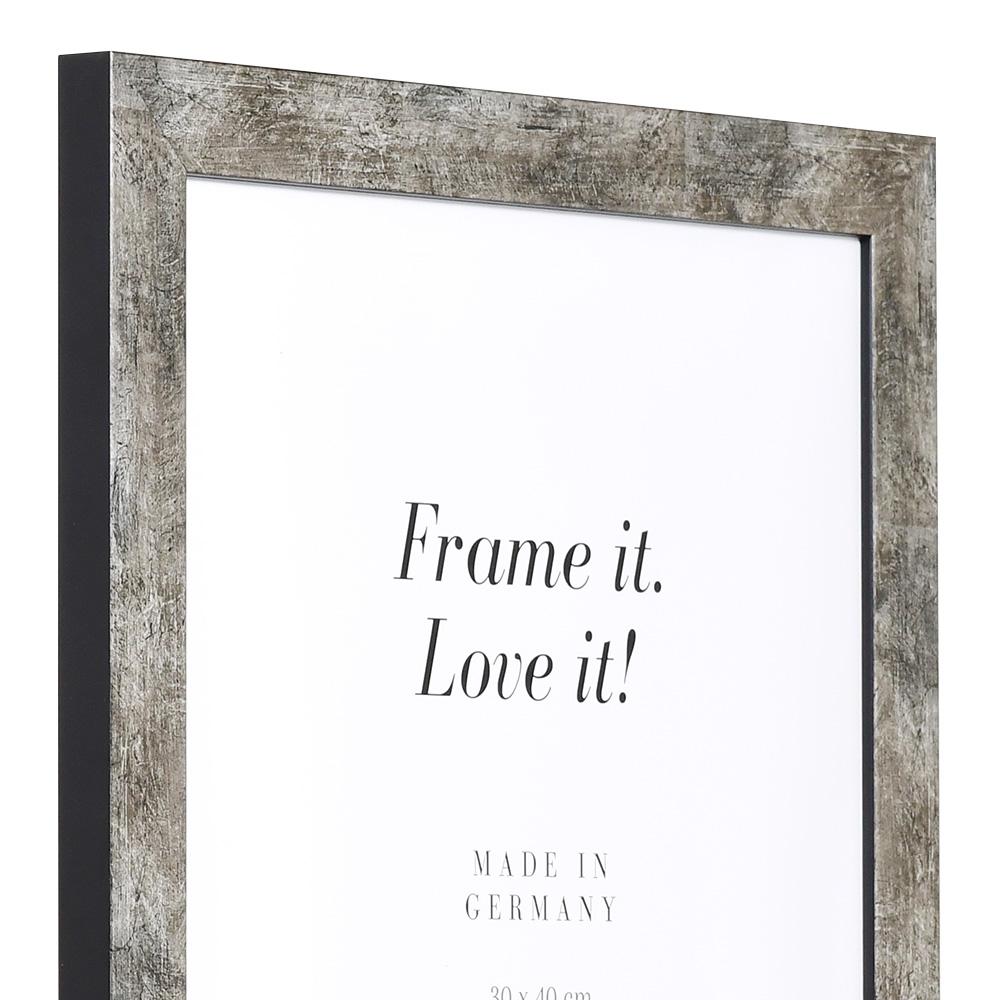 MDF-Cornice in legno Lille 10x15 cm | grigio antracite | vetro standarde