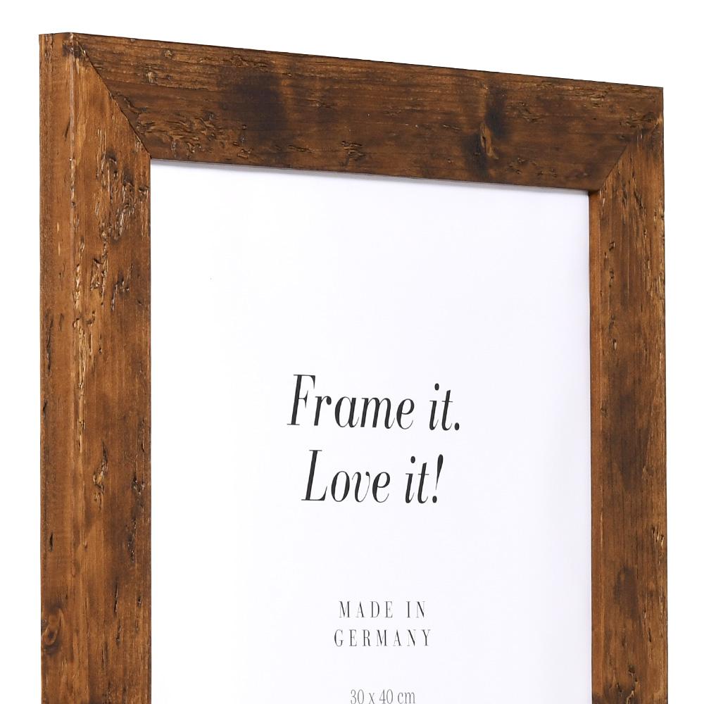 Cornice in legno Fleurat 28x35 cm | marrone | vetro standard