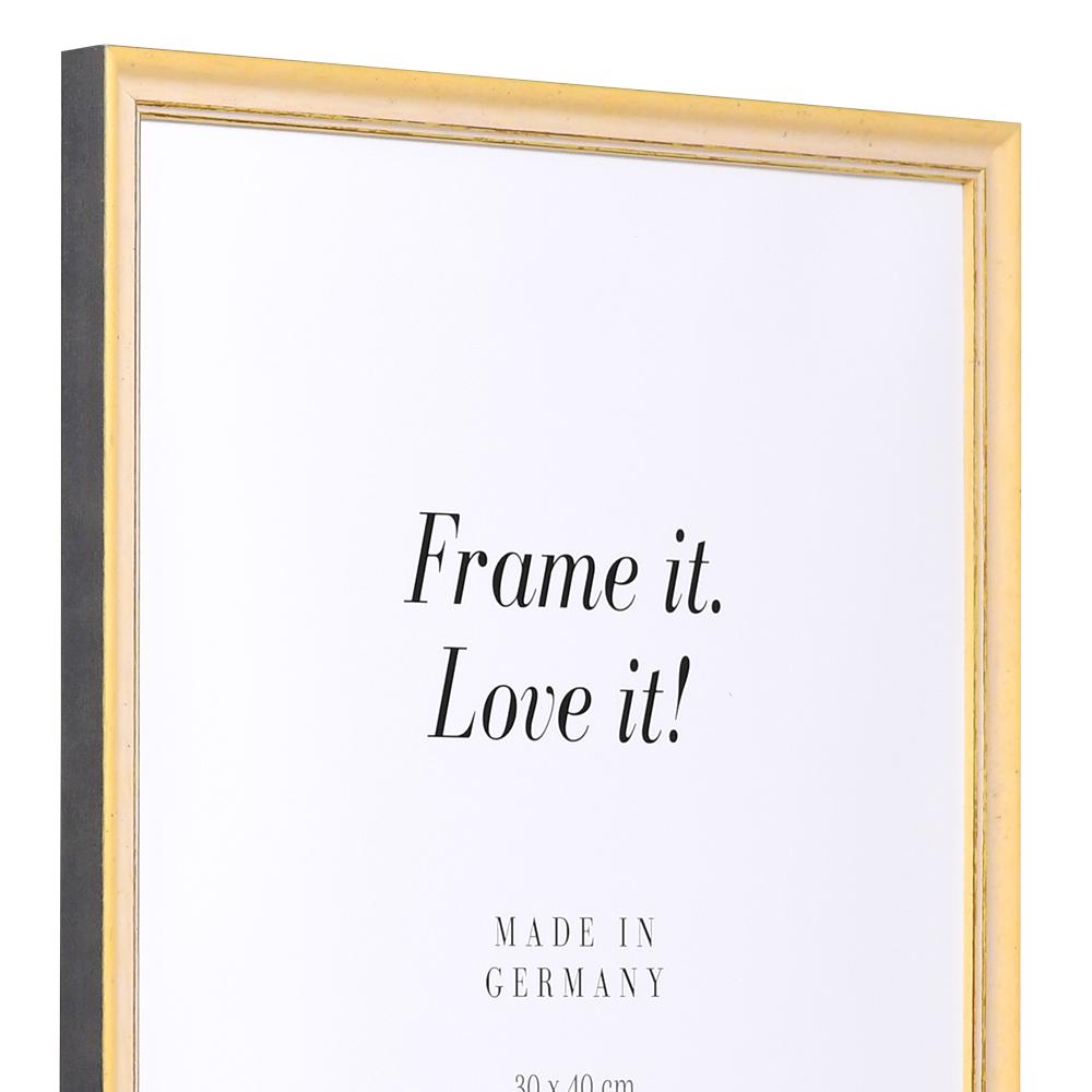 Cornice in fibre di legno Lille 21x28 cm | giallo-oro | vetro standarde