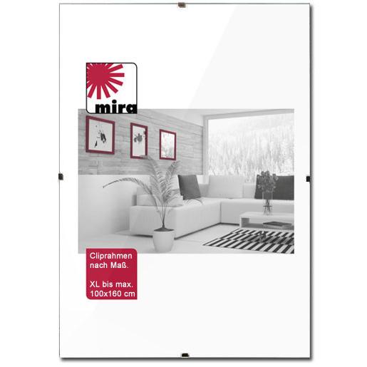 Cornice con clips - su misura fino a 100x160 cm senza cornice | vetro artificiale