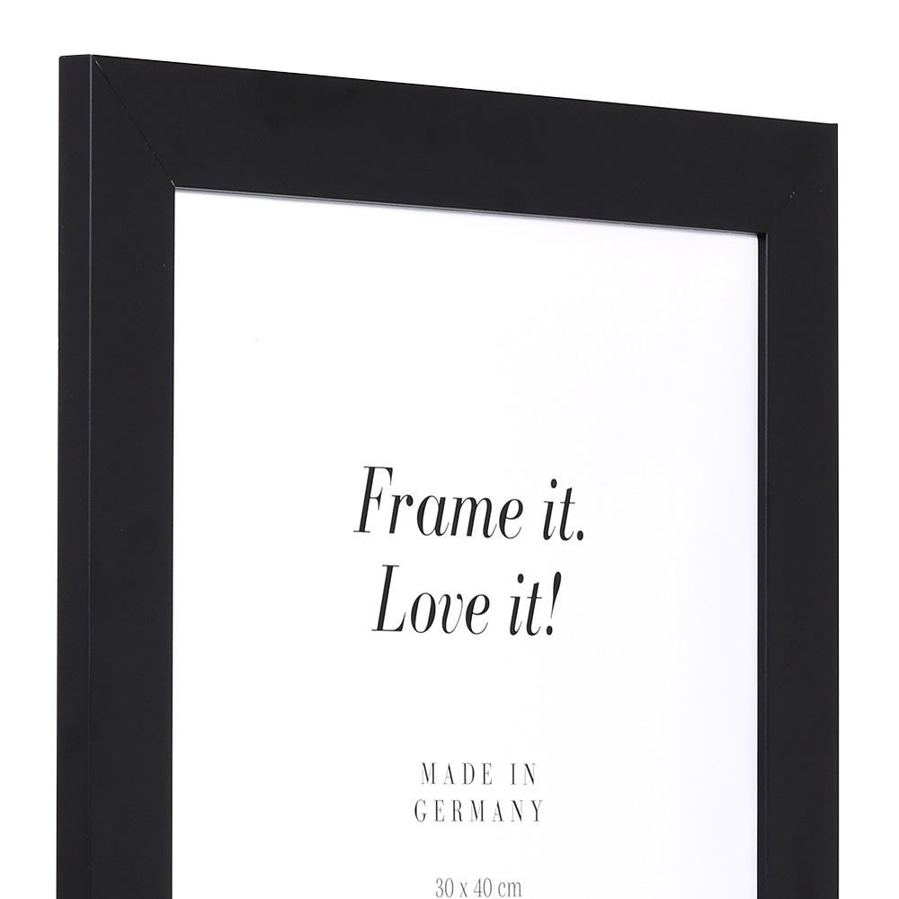 Cornice in legno Top Pro Largo 63x112 cm   nero   vetro artificiale antiriflesso