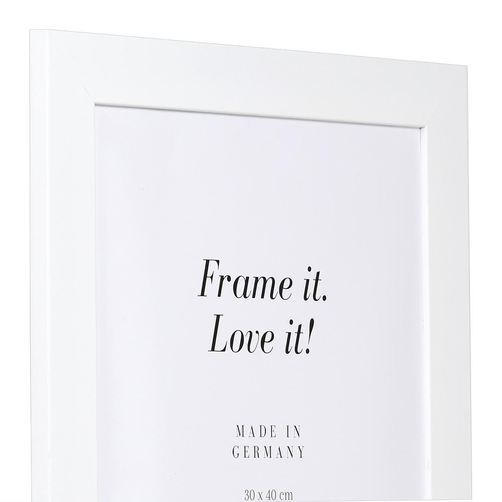 Cornice in legno Top Pro Largo 63x112 cm | bianco | vetro artificiale antiriflesso