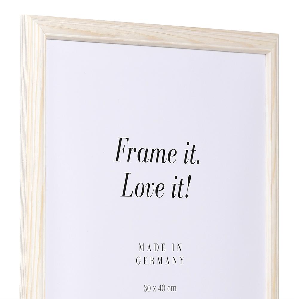 Cornice in legno Saint-Michel 18x32 cm | naturale-bianco | vetro standarde