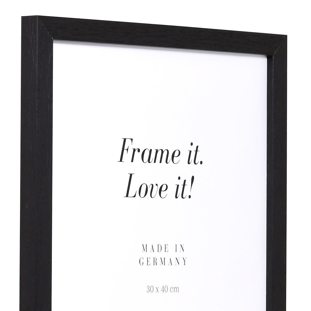 Cornice in legno Lothringen 9x13 cm | nero | vetro standarde