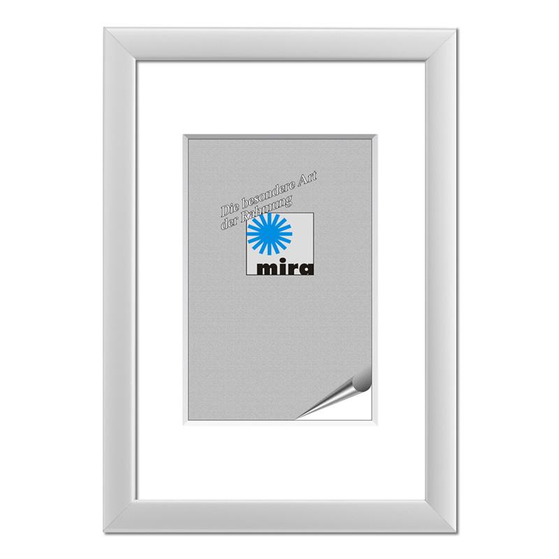 Cornice in legno Saint-Denis 21x29,7 cm (A4) | argento | vetro normale