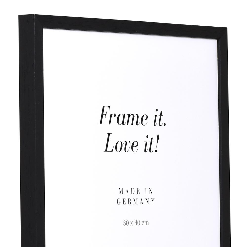 Cornice in legno Burgund 21x28 cm | nero | vetro standarde
