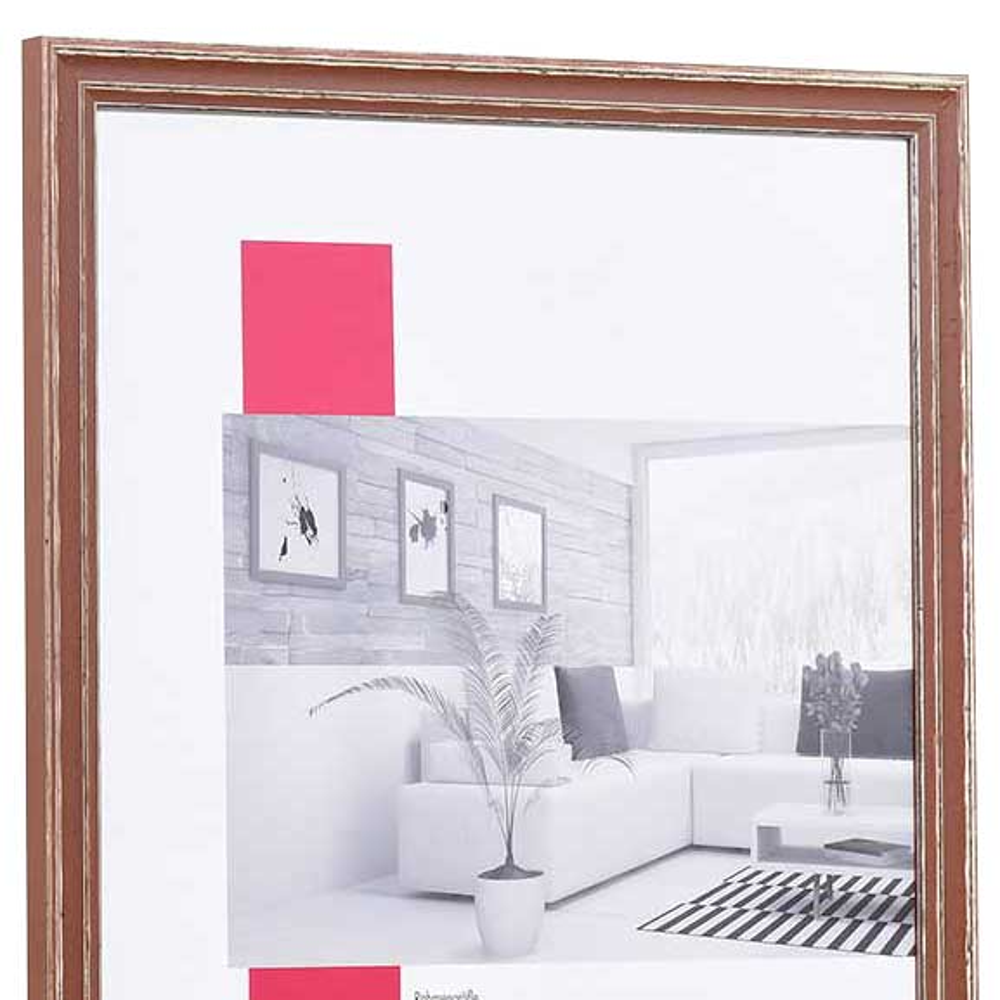 Cornice in legno Dijon 30,5x91,5 cm   marrone   vetro standarde