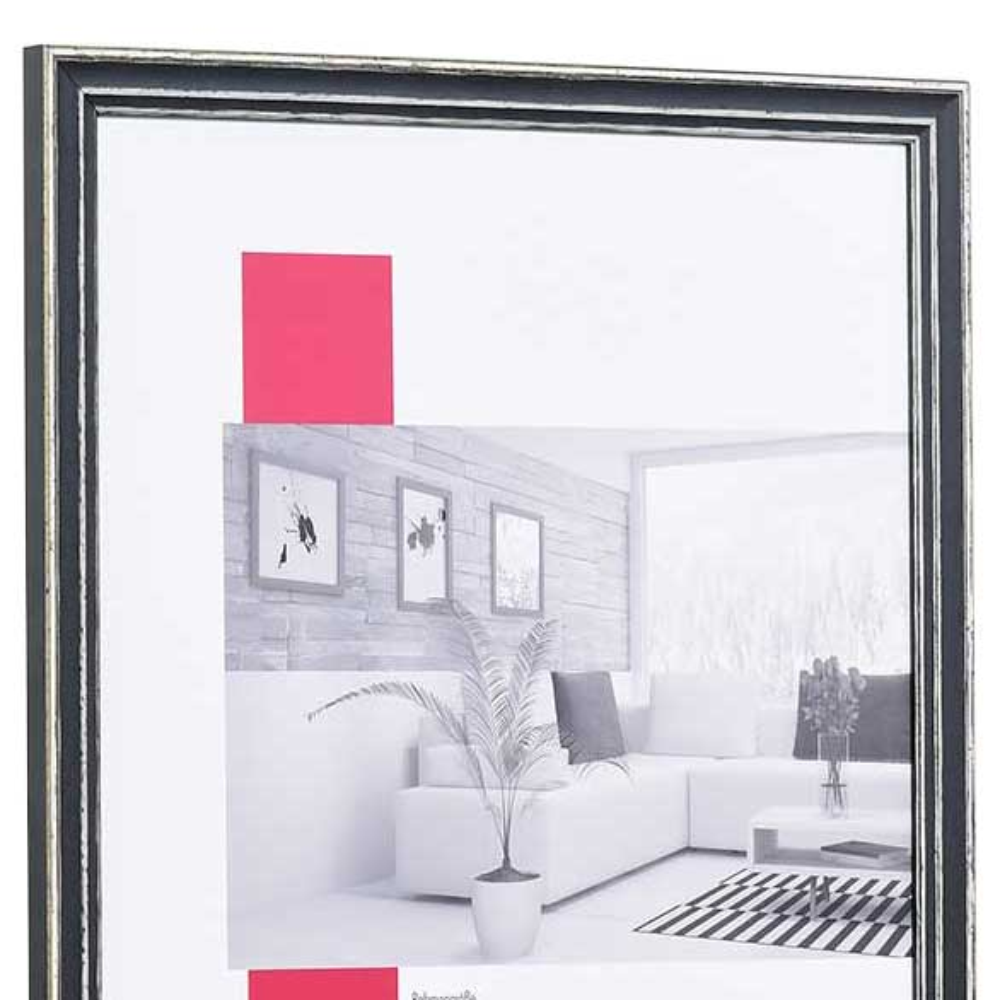 Cornice in legno Dijon 30,5x91,5 cm | grigio | vetro standarde
