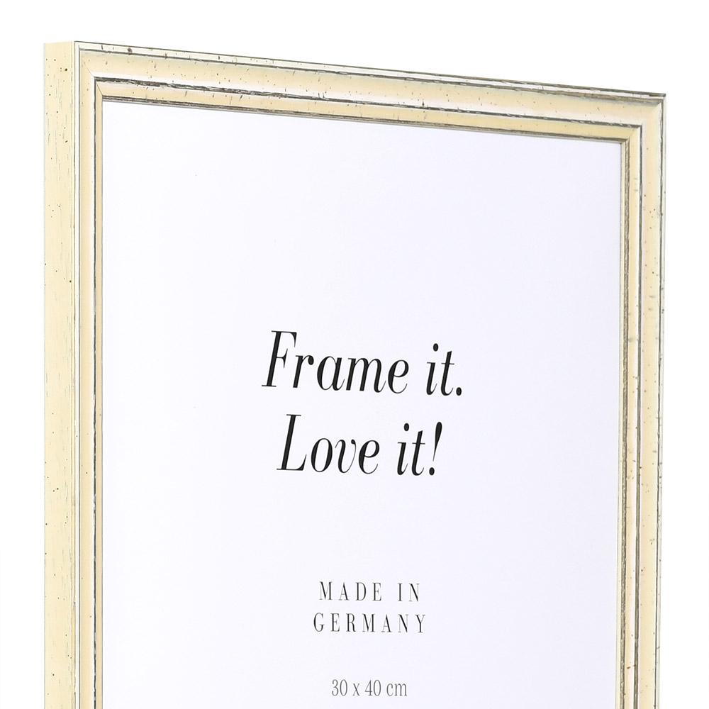 Cornice in legno Dijon 30,5x91,5 cm | bianco | vetro standarde