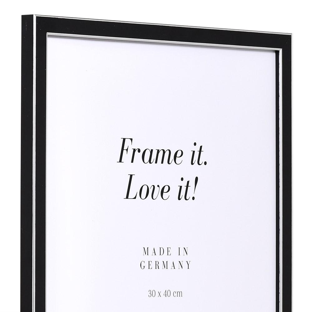 Cornice in legno Moulins 21x28 cm | nero | vetro standarde