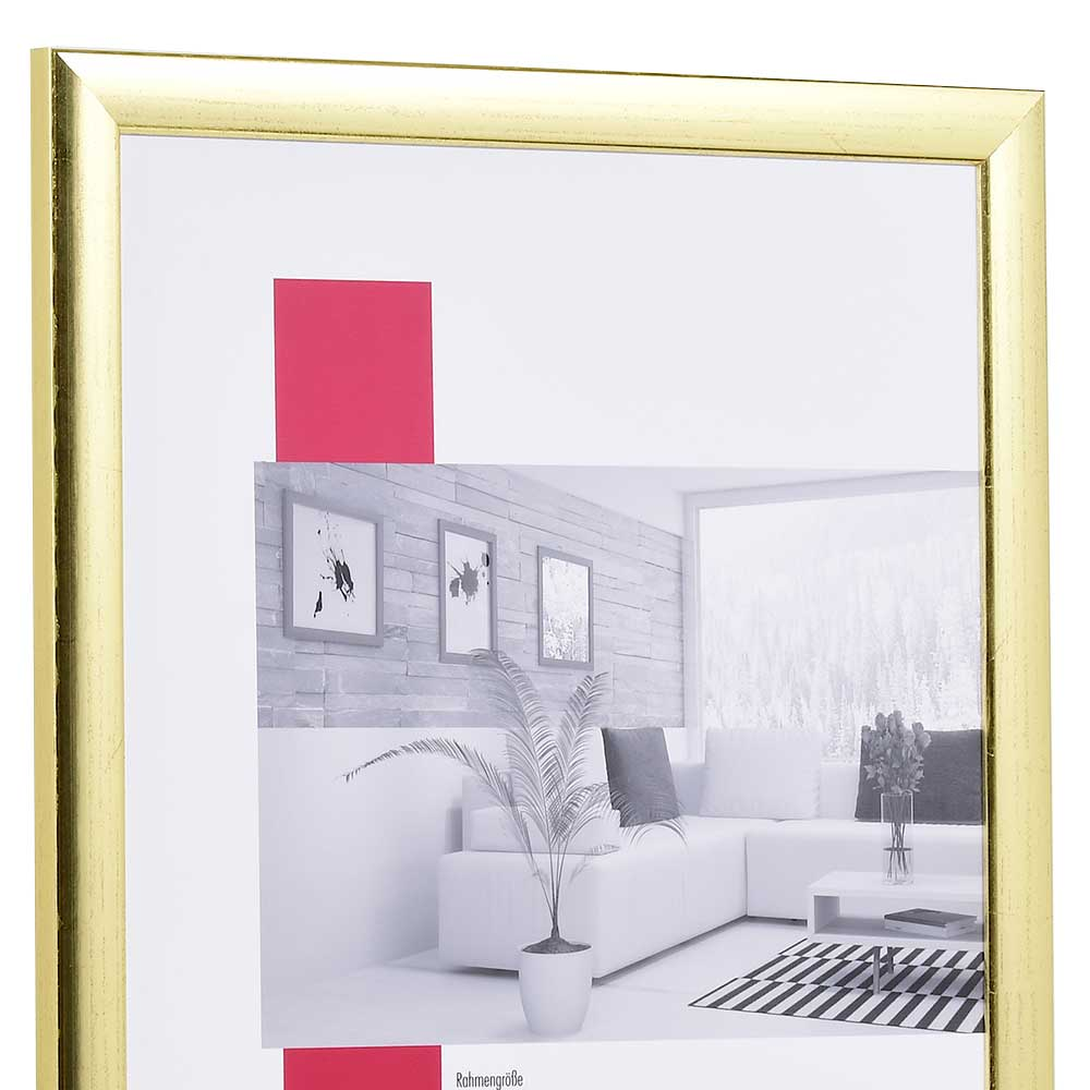 Cornice in legno Paris 100x100 cm | oro | vetro artificiale antiriflesso