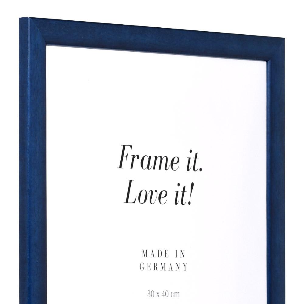 Cornice in legno Paris 18x27 cm   blu reale   vetro standarde