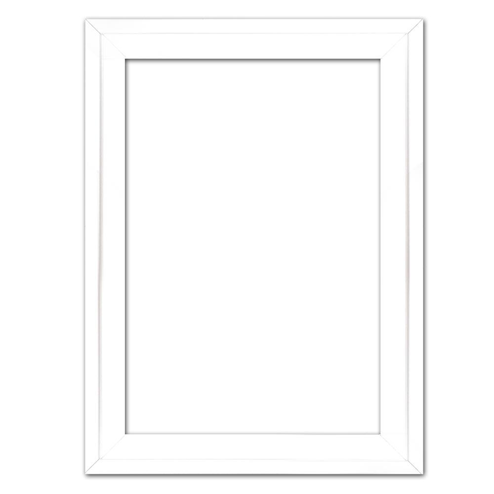 Cornice profilato di tenuta Eclipse, bianco in su misura bianco | cornice senza vetro e supporto sul retro