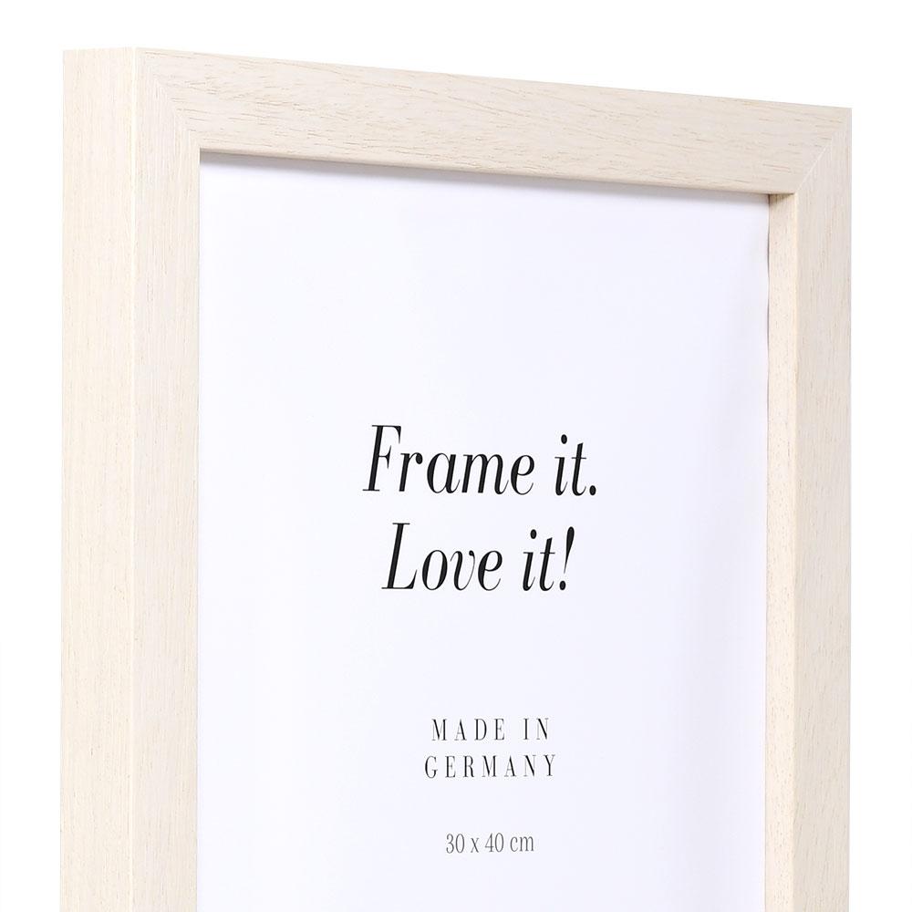 Cornice in legno Calais 80x80 cm | naturale | vetro artificiale antiriflesso