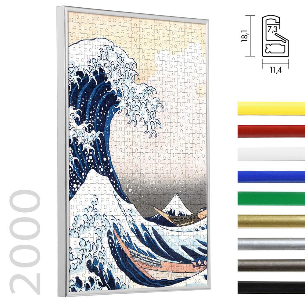 Cornice per puzzle da 2000 pezzi in materiale sintetico