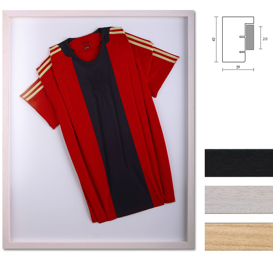 Cornice per magliette Nouvelle 70x100 cm | nero | vetro artificiale antiriflesso