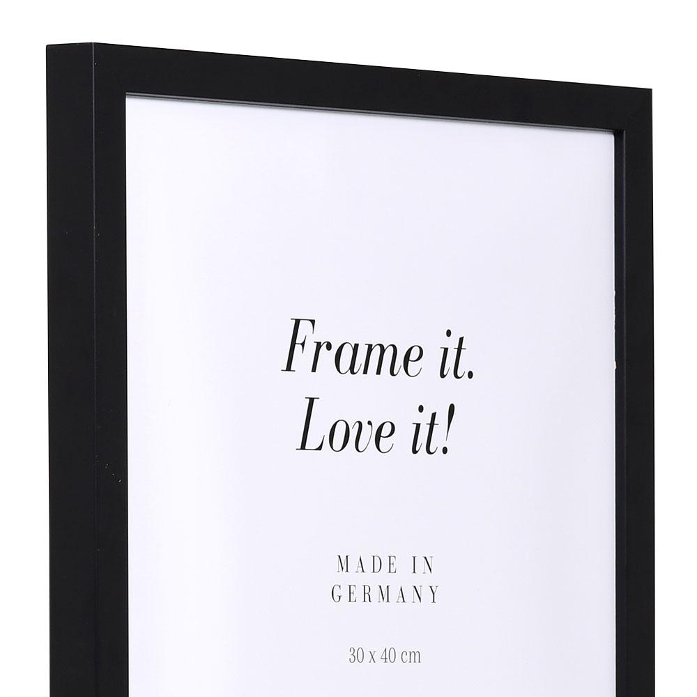Cornice in legno Figari 84,1x118,9 cm (A0) | nero | vetro artificiale antiriflesso