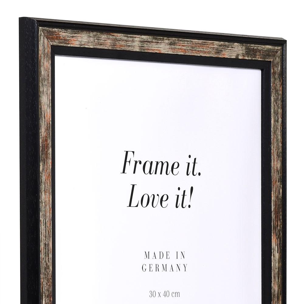 Cornice in legno Autun 75x100 cm | nero | vetro artificiale antiriflesso
