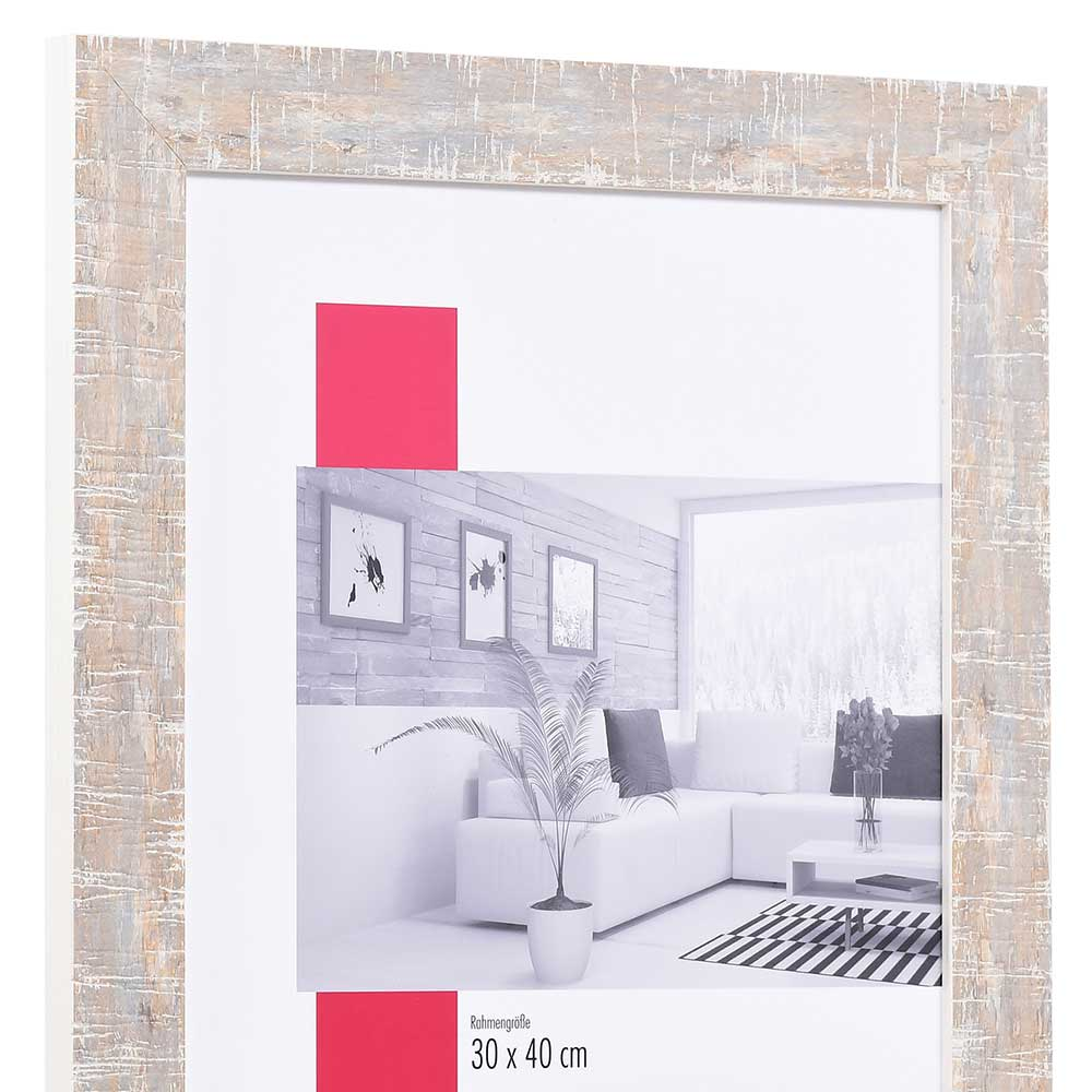 Cornice in legno Troyes 29,7x42 cm (A3) | bianco | Vetro standard