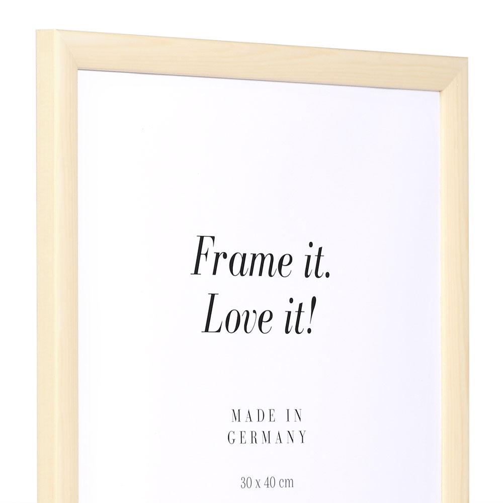 Cornice in legno Korsika 25x70 cm | naturale-bianco | vetro standarde