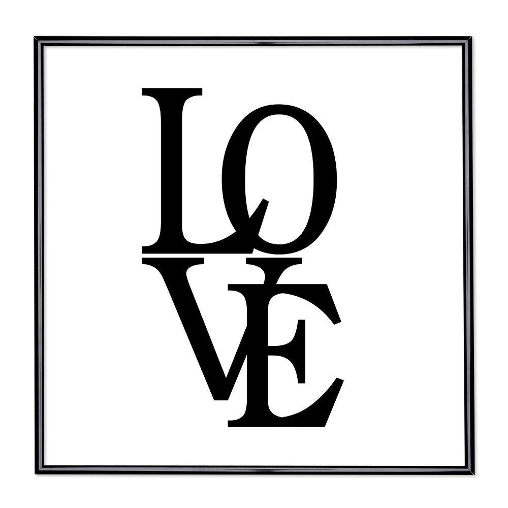 Scritta incorniciata Love 2