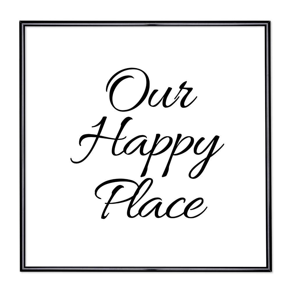 Scritta incorniciata Our Happy Place