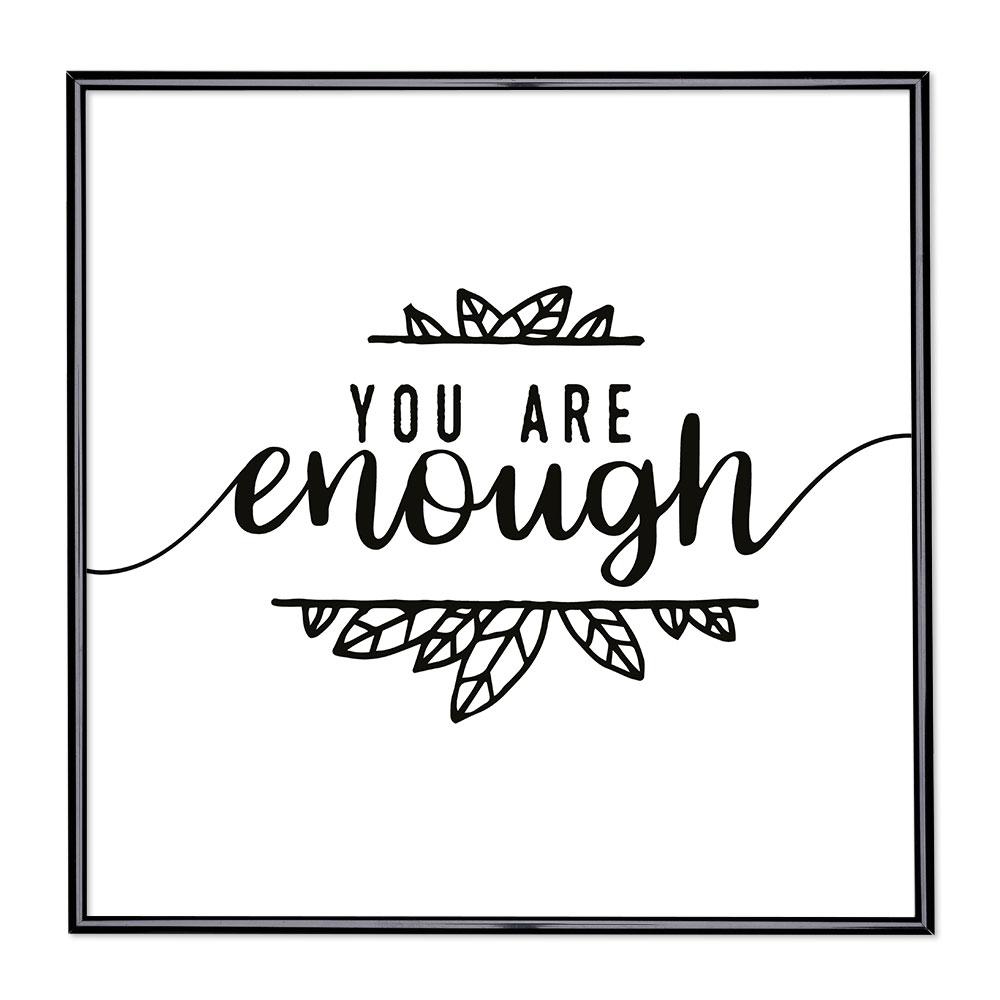 Scritta incorniciata You Are Enough