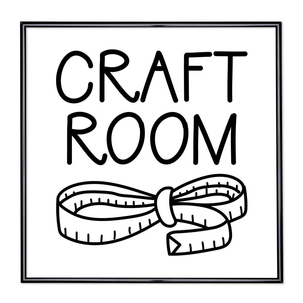Scritta incorniciata Craft Room