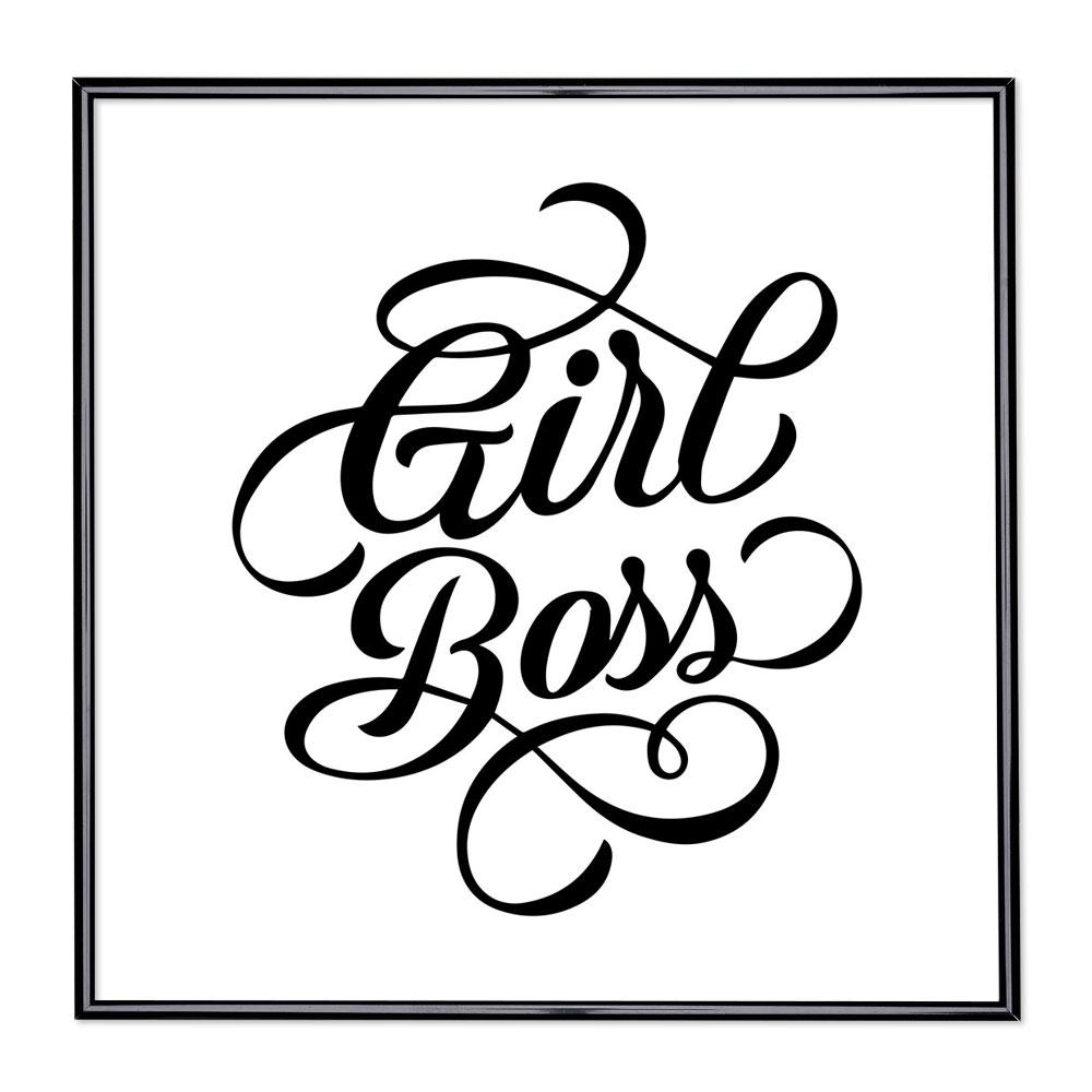 Scritta incorniciata Girl Boss