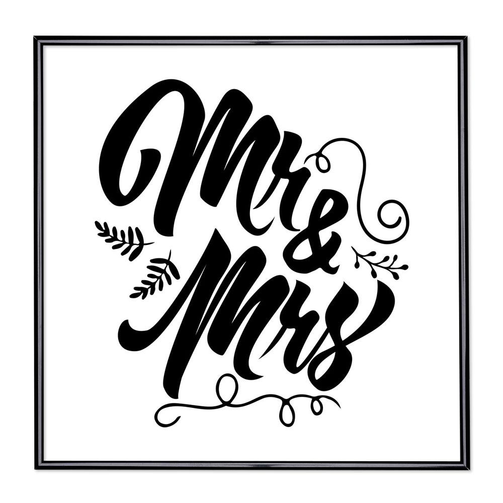 Scritta incorniciata Mr & Mrs