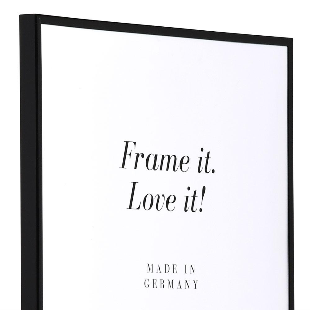 Cornice di plastica ART su misura nero | vetro standarde